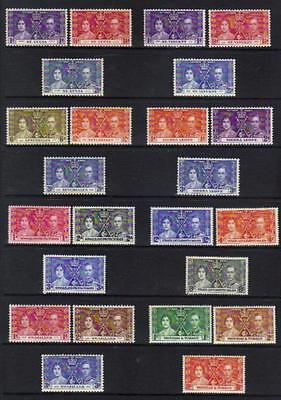 1937 Coronation M/m Set Of 3
