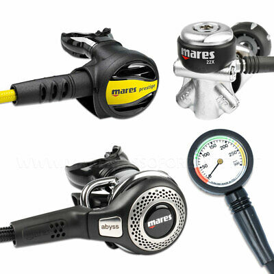 Erogatore Subacqueo Mares Abyss 22X Int Scuba Regulator Yoke Version And Gauge