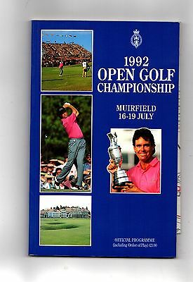 1992 Muirfield British Open Golf Championship  Official Programme POST FREE