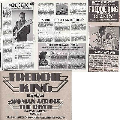 FREDDIE KING : CUTTINGS COLLECTION -adverts etc-