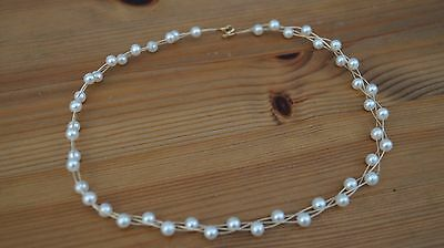Unbranded 750 Hallmarked 18K Gold 3 Strand Necklace Set With Freshwater Pearls