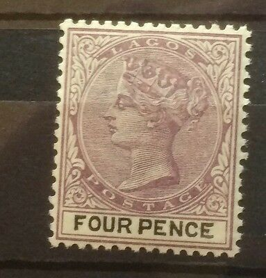 £££ Lagos - year 1897 - timbre stamp MNH** Queen Victoria - four pence