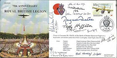 Margaret Thatcher and 11 Battle of Britain pilots signed British Legion FDC AK95