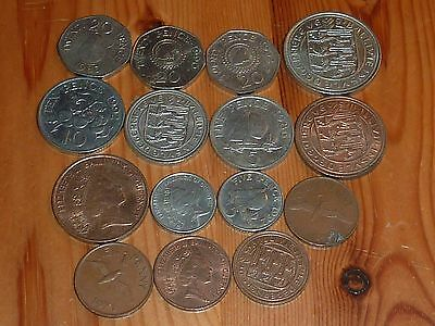 Guernsey - 20 Pence To 1 Pence Coins - 1968 To 1992 - 15 Great Coins