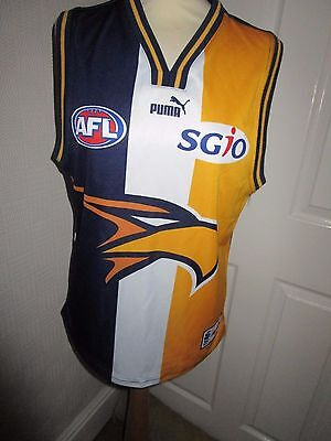 WEST COAST EAGLES Australian Rules Football shirt top vest jersey Large
