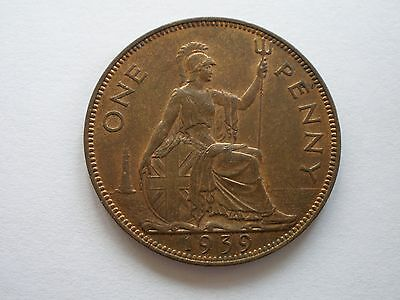 1939 GEORGE VI PENNY - A.Unc WITH LUSTRE - UK POST FREE