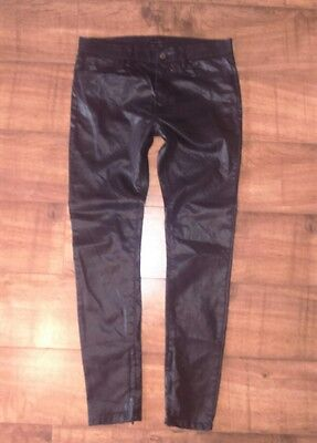 zara men coated shiny super skiny jeans size eu 40 USA 31 mex 31