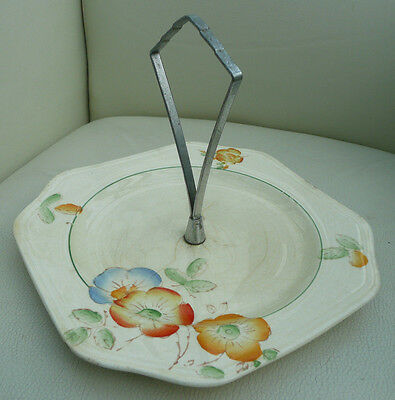 Lovely Vintage Hand Painted Cake Stand