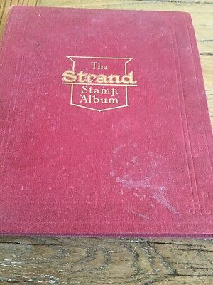 Old The Strand Stamp Album With Some Stamps