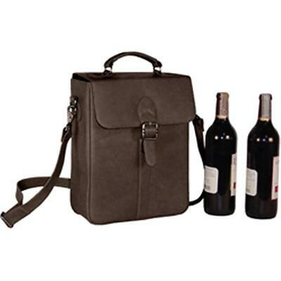 David King & Co 434C Deluxe Double Wine Bottle Carrier Cafe