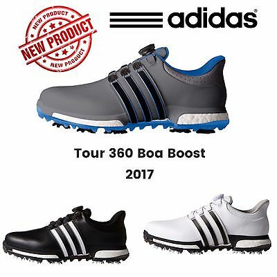 """NEW 2017"" Adidas Mens Tour 360 Boa Boost Waterproof Spiked Golf Shoes Pro Tour"