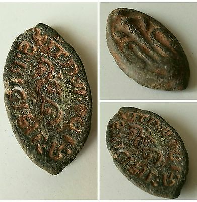 Lead post? Medieval Matrix seal , unresurched and uncleaned metal detecting find