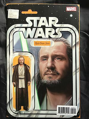 Marvel Star Wars #26 Exclusive Qui-Gon Jinn Action Figure Cover JTC