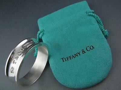 Sterling TIFFANY & CO Napkin Ring 1837 w/ pouch ~Mint