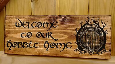 Personalised Hobbit House Name Plaque Signs Porch Conservatory Lord of the Ring