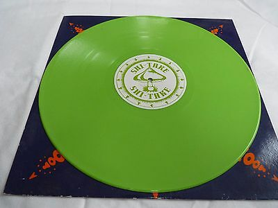 "Shi-Take - Sticky Green Fingers. 19960 Green Vinyl Promo 12"". Zoom 028"