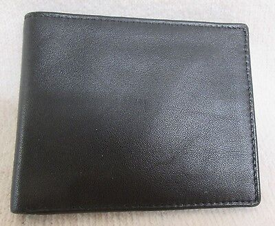 Mens Black Leather Wallet M&s