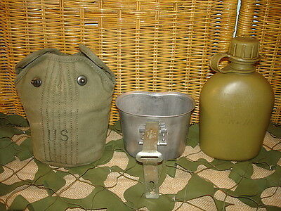 Vietnam Complete M1956 Canteen 1962 Belt Hook Type Cover 1956 Cup 1963 Canteen 6