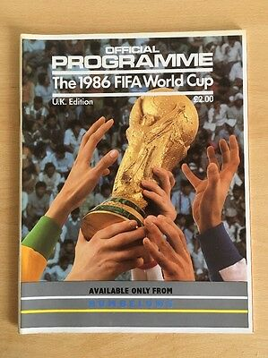 Official Programme 1986 FIFA World Cup Uk Edition