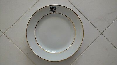 Antique Russian Imperial Porcelain plate from The Coronation Service.
