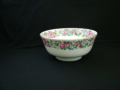 "Crown Staffordshire China ""Thousand Flowers"" pattern large fruit bowl"