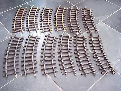 12 Lgb 11000 G Scale Model Railway Brass Track R1 Curves