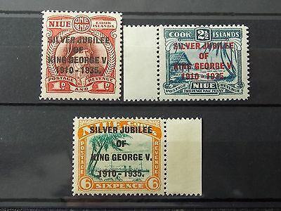 MNH set- NIUE COOK ISLANDS -Silver Jubilee King George V - British Colonies