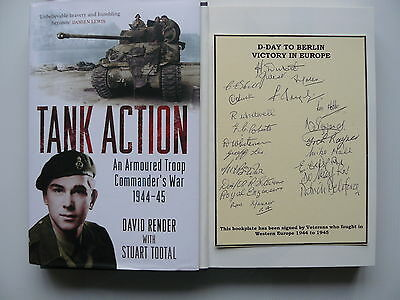 Tank Action Signed 20 1944/45 Victory In Europe Veterans