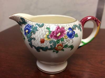 "Antique Vintage Royal Cauldon Flora Dora ""Victoria"" Patterned Miniature Milk Jug"