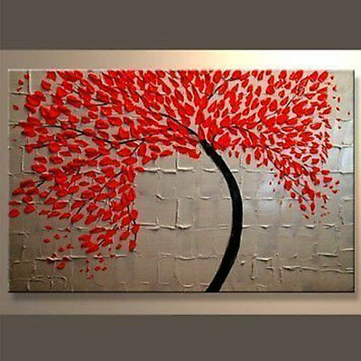 Modern Abstract Ready to Hang Stretched Canvas Oil Painting (no frame)