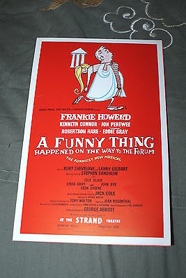 """The Strand Theatre Flyer For """"something Happened On The Way To The Forum""""."""