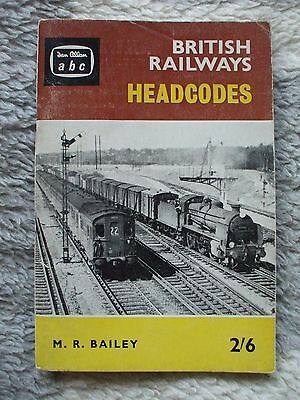 Ian Allan ABC of British Railways Headcodes 1960's.