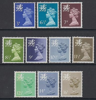 Wales   Selection  Of 10  Unmounted Mint