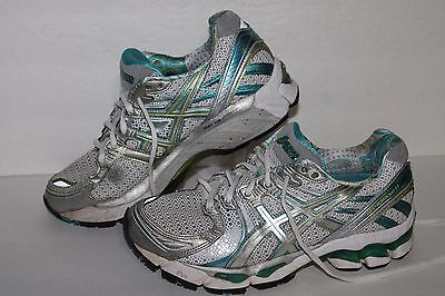 check out 8fe4b 6a67d ASICS Gel Kayano 17 Running Shoes,  T150N, Wht Blue Silver,