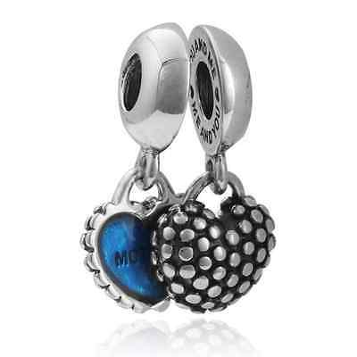 HOT Mother and son Charm Beads Fit sterling Bracelet Pendant Necklace A#345