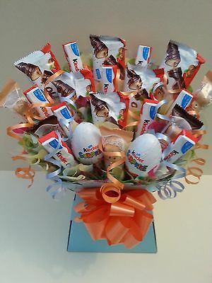 KINDER CHOCOLATE BOUQUET - Sweet Tree Explosion Kids Hamper - Perfect Gift