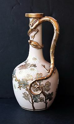 Vintage Japanese Signed Porcelain Vase Dragon