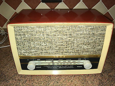 Vintage Bakelite Compact Valve Radio,Ekco,c.1959,Working V Well,Elect Work Done