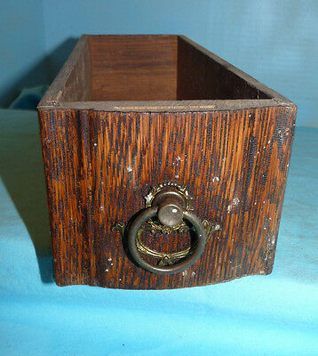 Antique Treadle Sewing Machine Drawer w/ fancy Metal Pull, Excellent