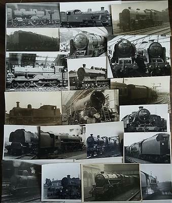 20 Original Steam Locomotive Photographs Various Locations
