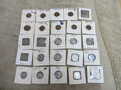 Vintage Old Coin Lot Buffalo Nickles Wheat Pennies Silver Dimes