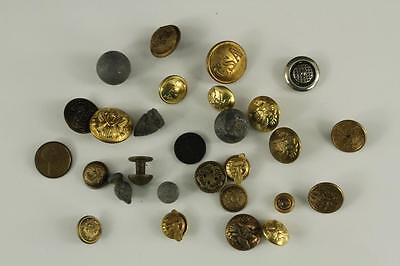 Vintage LOT US Military Metal Uniform Buttons WWII Ruptured Duck Ball Shot CSA