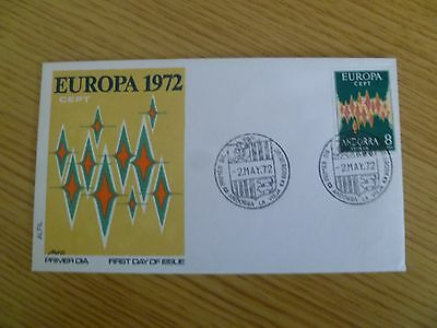 Andorra 1972 Europa FDC - stamp catalogue value alone £140 - Ref TP5