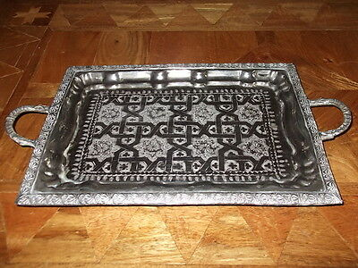 Lovely Silver Plated Arabic Tray