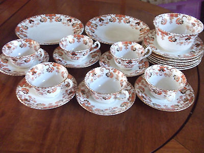 Edwardian Royal Stanley Tea Set For 6 With Two Cake Plates