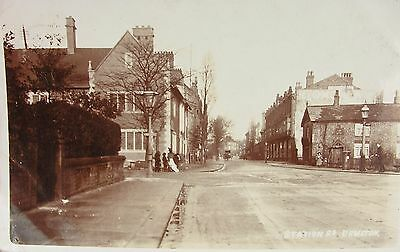 Tranquil Station Road Urmston Manchester Lancashire 1906 Rp Pc