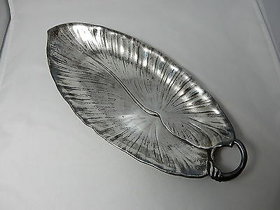 Beautiful sterling Lily Pad style aesthetic long tray! No mono