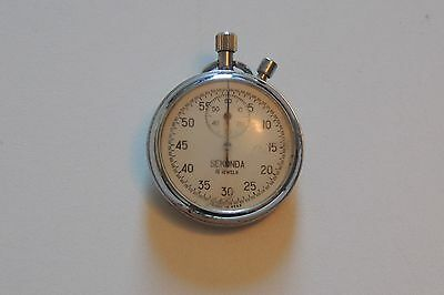Sekonda Stop Watch      Chrome Plated        Year Unknown      Working Order