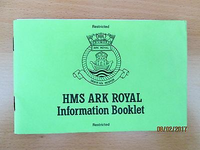 Information Booklet HMS ARK ROYAL Royal Navy `RESTRICTED' c1981 Vickers