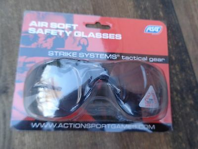 Airsoft Safety Sports Glasses New Sealed Asg  Action Sports